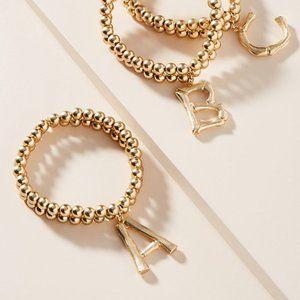 Anthropologie Monogram Beaded S Bracelet